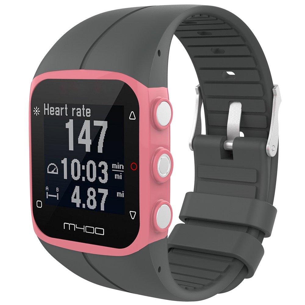 M430 GPS iFeeker Feskio Bracelet en Caoutchouc de Silicone de Remplacement pour Montre de Remplacement en Caoutchouc de Silicone Souple pour Polar M400