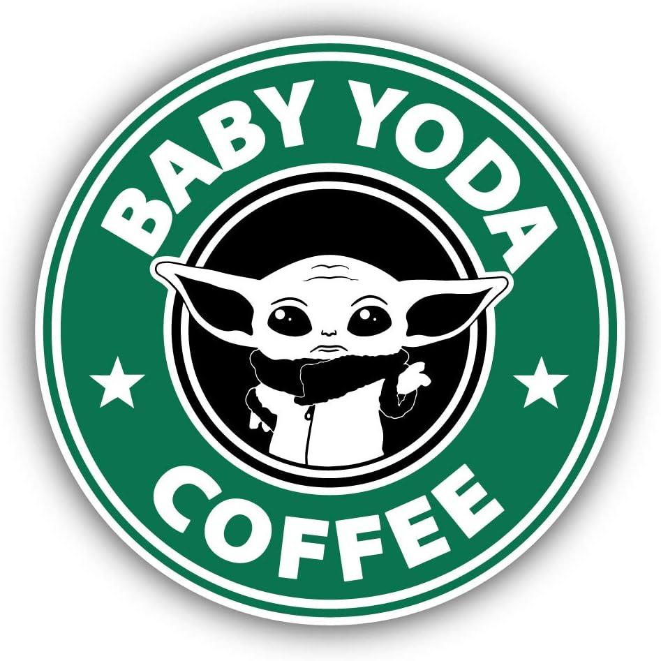 Zirni Baby Yoda Coffee Vinyl Sticker Bumper Art Decal