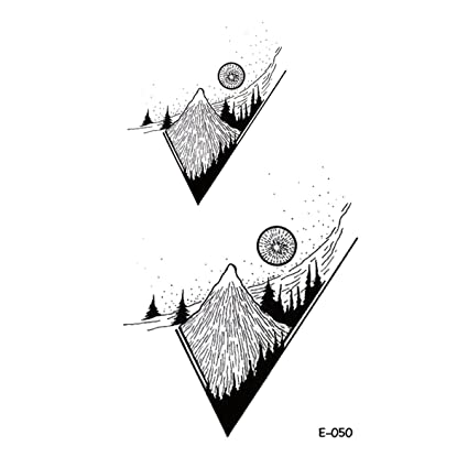 wyuen 5 hojas tatuajes temporales montaña impermeable adhesivo ...