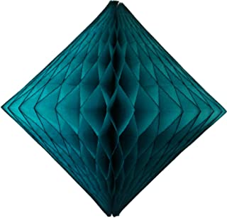 product image for 3-Pack 12 Inch Teal Green Honeycomb Diamond Decoration