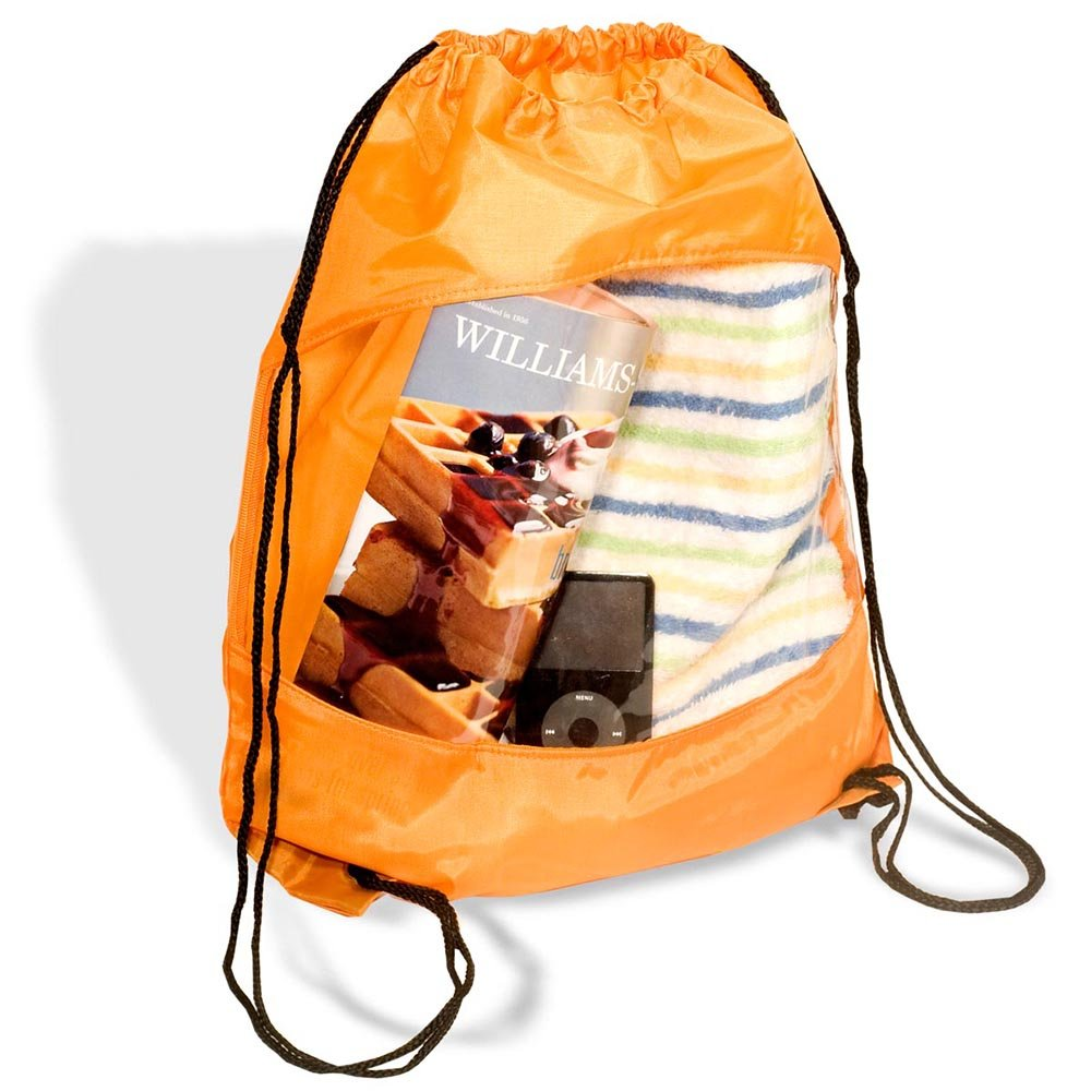 Clear View Drawstring Bag - 100 Quantity - $2.85 Each - PROMOTIONAL PRODUCT / BULK / BRANDED with YOUR LOGO / CUSTOMIZED by Sunrise Identity (Image #3)