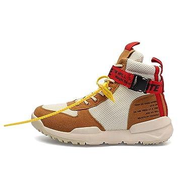 HCMONSTER Zapatillas de Deporte Zapatos de Lona Altos para Hombre Zapatos  Casuales Retro otoño e Invierno 81090476de2