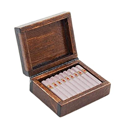 Odoria 1:12 Miniature Cigar Humidor Dollhouse Decoration Accessories: Toys & Games