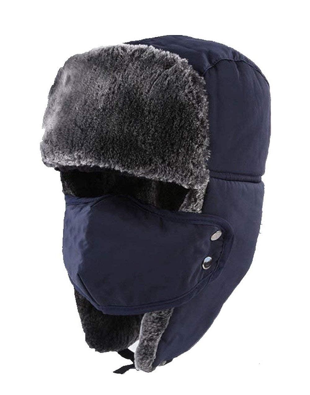 Cappello da Bombardiere Russo con Aviatore Urbano Classico Trooper Winter Facile Warmer con Paraorecchie Maschera Size : One Size) None