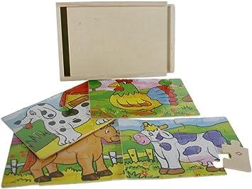 CAL FUSTER - Caja puzzle Animales: Amazon.es: Juguetes y juegos