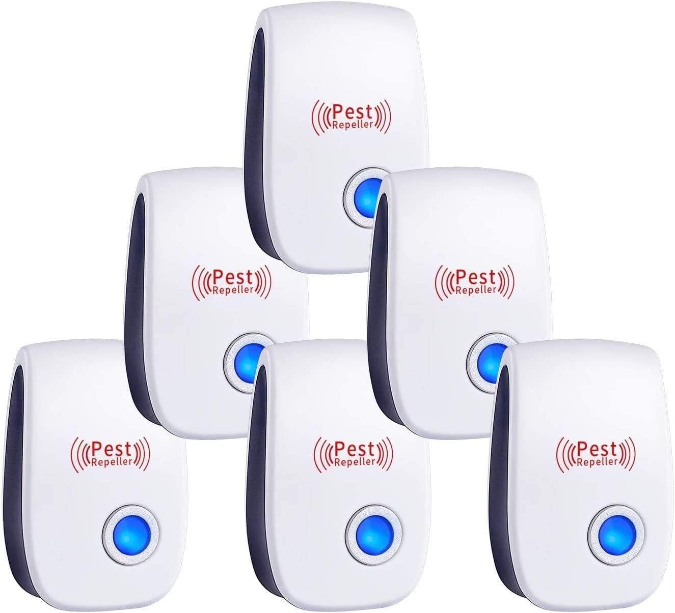 TOMPOL Ultrasonic Pest Repeller 6 Packs Pest Control Electronic Plug in Indoor Pest Repellent