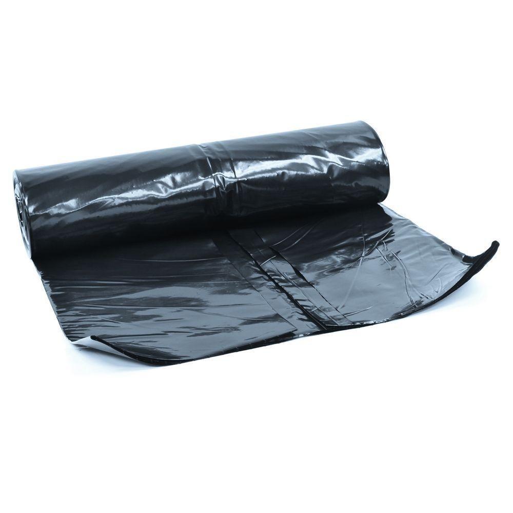QVS Shop 2M X 7M Extra Thick Black Heavy Duty Polythene Sheeting 250Mu 1000G