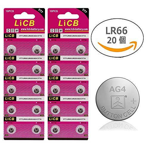 LiCB 20 Pack SR626SW 377 626 Battery 1.5V Button Cell Watch Batteries