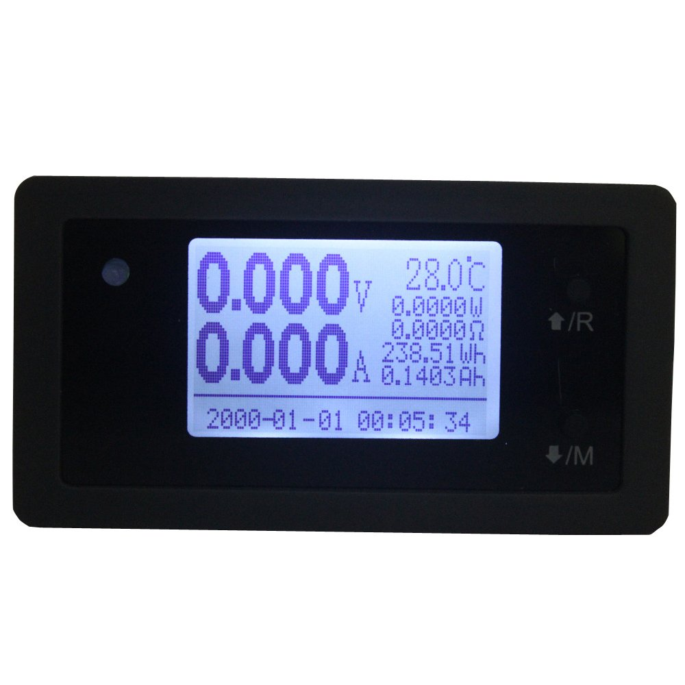 DTU-15020D Communication Digital Battery Capacity Tester DC 150V 15A Voltage Current Power Meter Thermometer Clock for Solar AGV Car