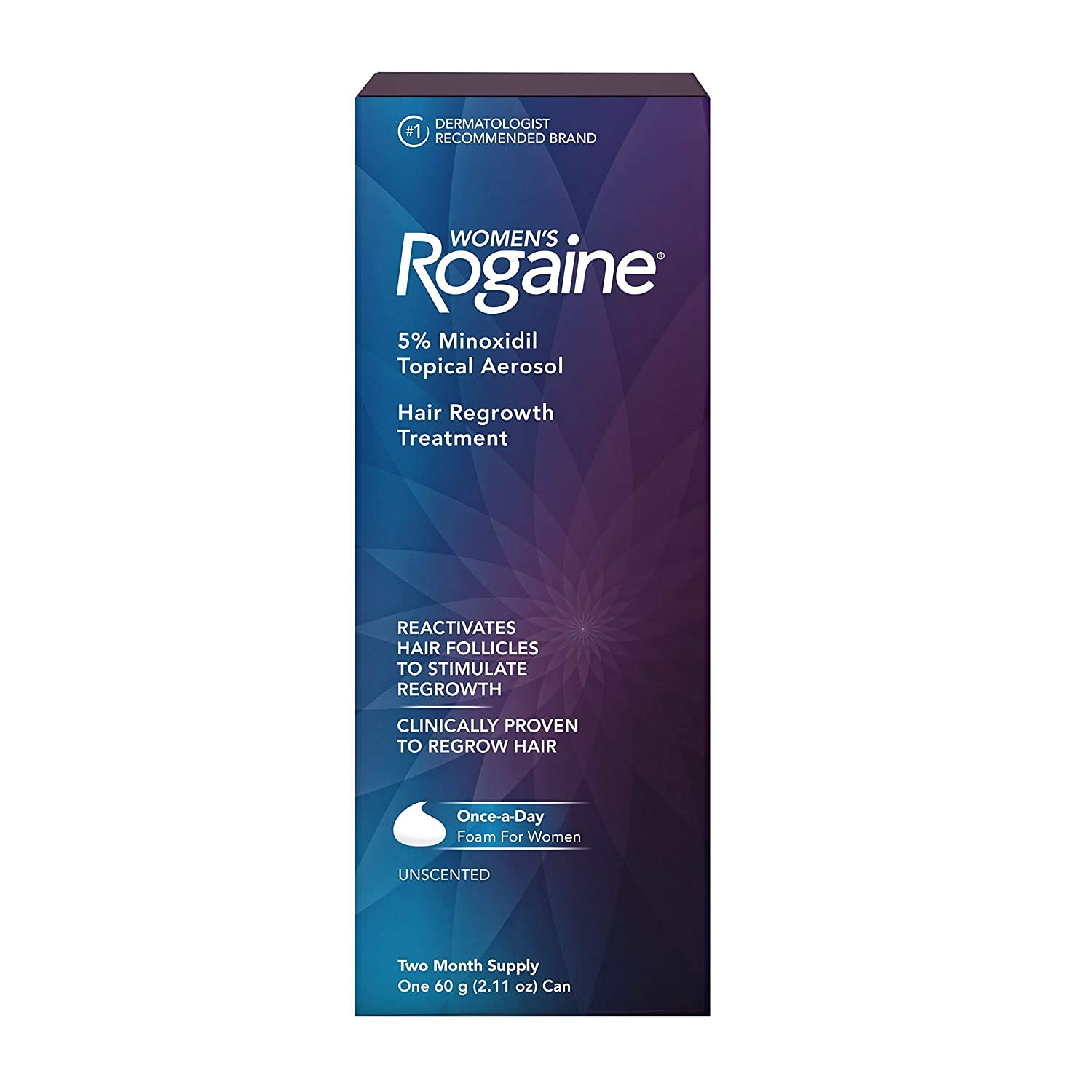 Women's Rogaine 5% Minoxidil Foam for Hair Thinning and Loss, Topical Treatment for Women's Hair Regrowth, 2-Month Supply : Beauty
