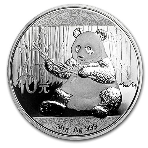 - 2017 CN Chinese Panda Silver Coin 30 Grams Silver Dollar Uncirculated Mint