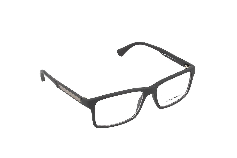 47349176393 Amazon.com  Emporio Armani EA 3038 Men s Eyeglasses Black Rubber 56  Shoes