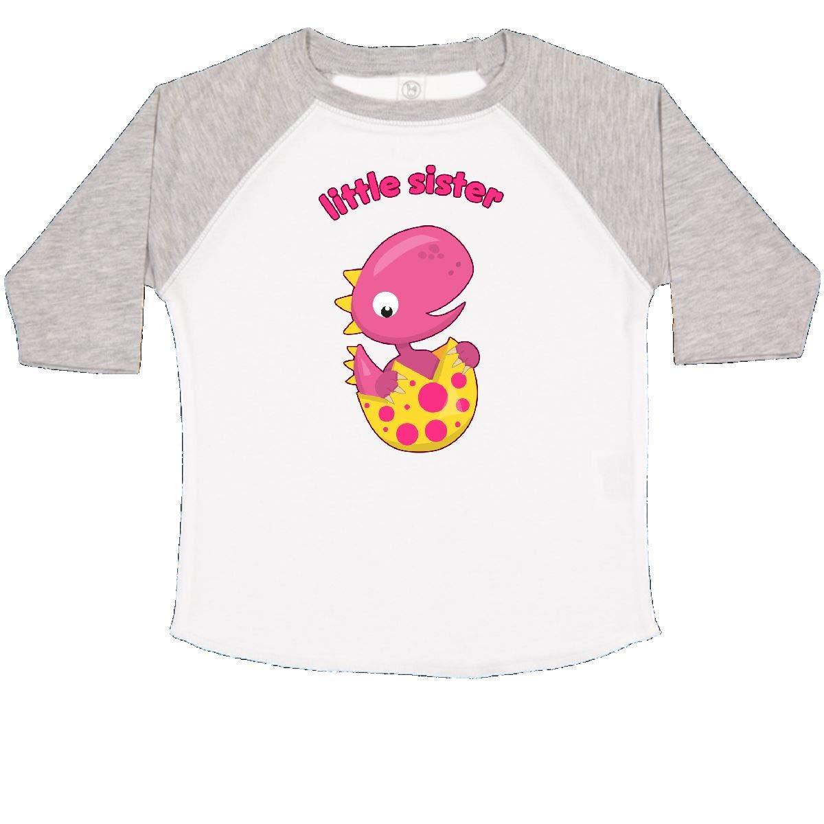inktastic Little Sister-Dino Toddler T-Shirt