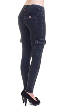 6dee61ec152780 Hard Tail Workout jeans cargo ankle leggings (charcoal mineral wash) WJ109  (large)