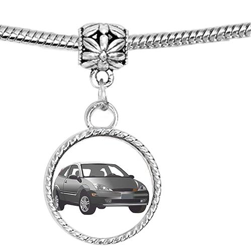 Vector estilo coche sobre fondo blanco encanto pulsera: Amazon.es: Joyería