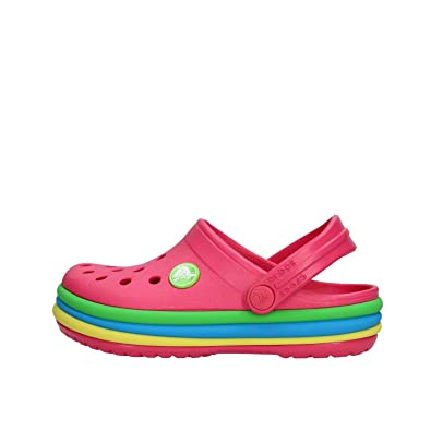 27a0014b03098c Crocs Unisex Kids  Crocband Rainbow Band Clog K  Amazon.co.uk  Shoes ...