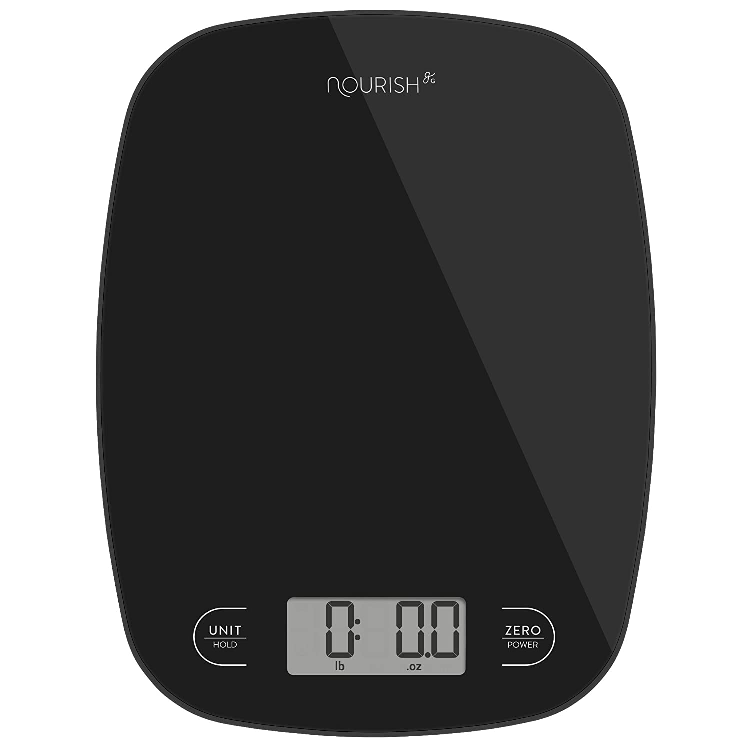 Digital Kitchen Scale Digital Weight Grams and Ounces (Black Glass)