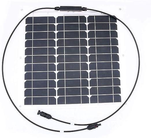 giardino per camper roulotte modulo fotovoltaico 50W JoaSinc Pannello solare 50W Monocristallino yacht