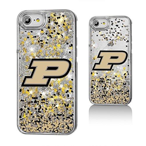(Keyscaper KGLGI7-0PUR-FETTI1 Purdue Boilermakers iPhone 8/7 Glitter Case with Confetti Design)