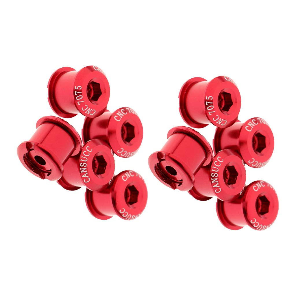 SM SunniMix 10pcs M8X5mm/7mm Bicycle Chainring Screws Bolt Bolts Road MTB Bicycle Crankset Parts Accessories