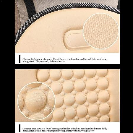 luckyx Cuscino Comfort per Auto Cuscino Schienale Caldo Cuscino Schienale Ortopedico Supporto Lombare Cuscino Lombare Cuscino Ergonomico per Il Miglior Comfort di Seduta Nero//Beige//feasible