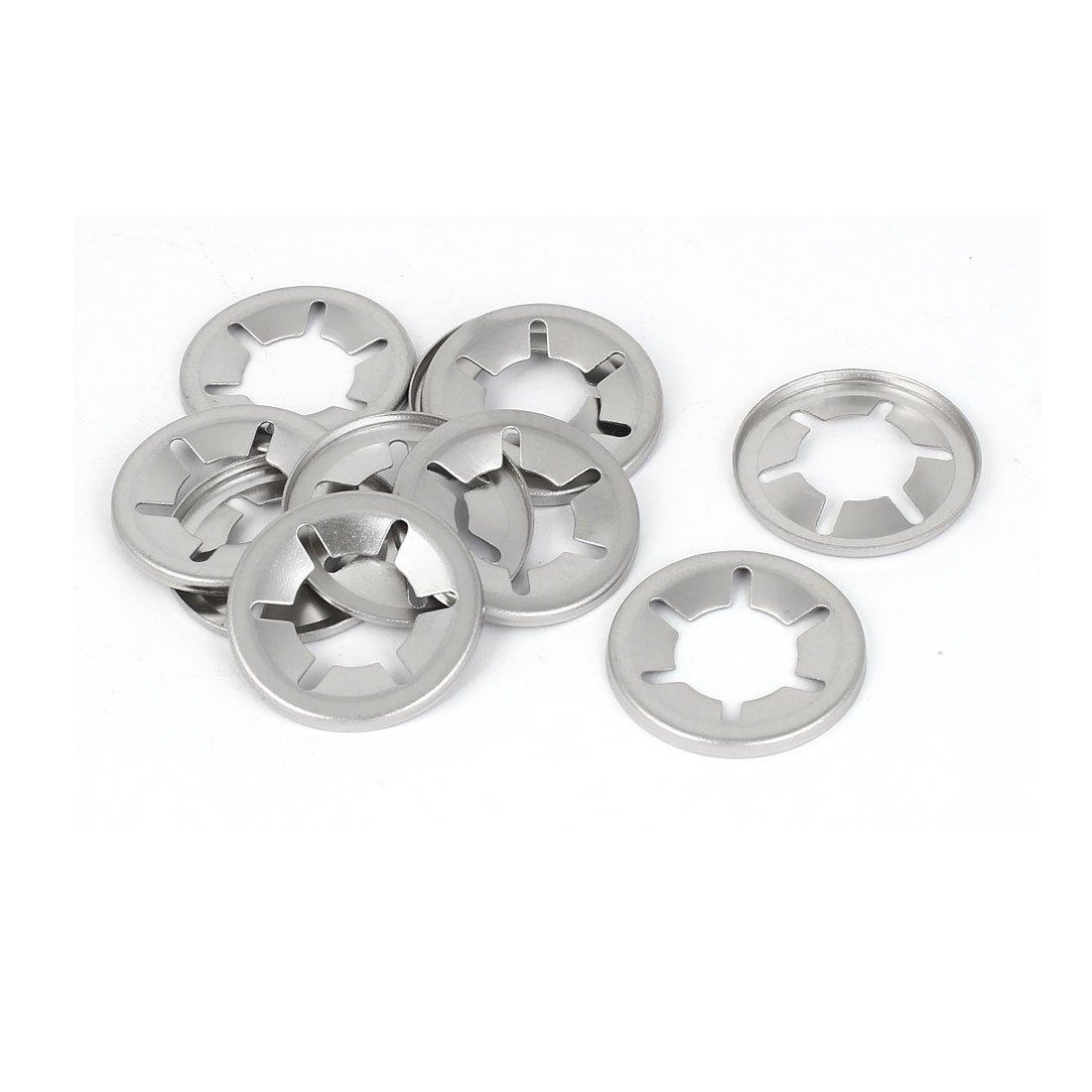 sourcingmap/® 14mm x 28mm x 2mm acier inoxydable 304 Dent interne rondelles verrouillage /étoile 10 Pcs
