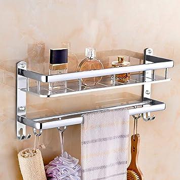 Toalleros, estante de aluminio del espacio, sacador-libre, estante para toallas plegable
