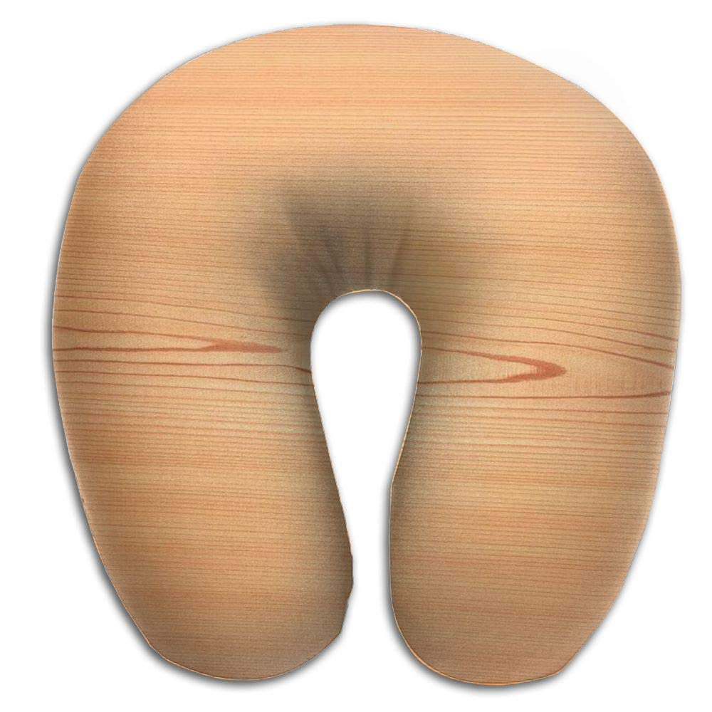 Neck Pillow with Resilient Material Small Tree Wood Grain U Type Travel Pillow Super Soft Cervical Pillow