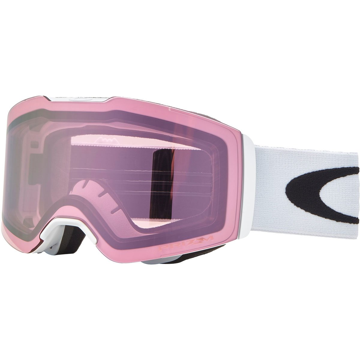 Oakley Fall Line Snow Goggles, Matte White Frame, Prizm High Intensity Pink Iridium Lens, Medium by Oakley