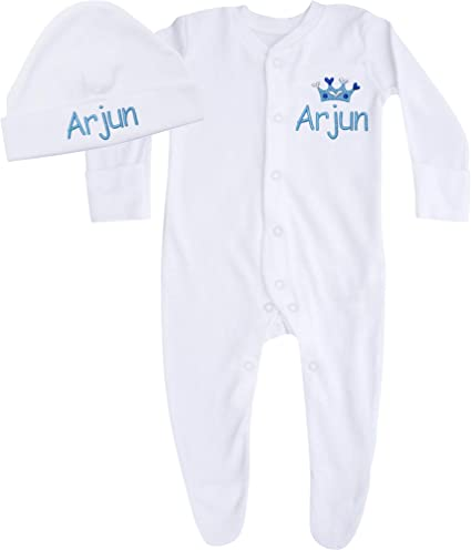 Personalised Hello World Baby Set Babygrow Hospital Outfit Ultimate Newborn Sets