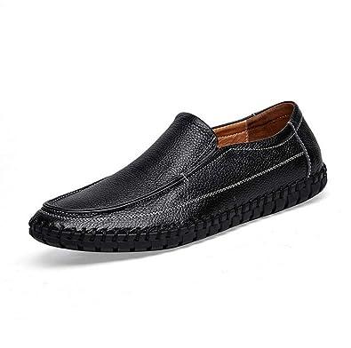 Herren Schuhe Rindsleder Sommer Herbst Komfort Loafers & Slip-Ons Split Joint für Casual Schwarz Blau Braun (Color : Yellow, Größe : 39) MYI