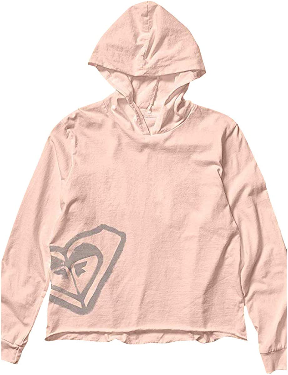 Roxy Womens Script Stencil CRP Hoodie Cream Tan Shirts Size
