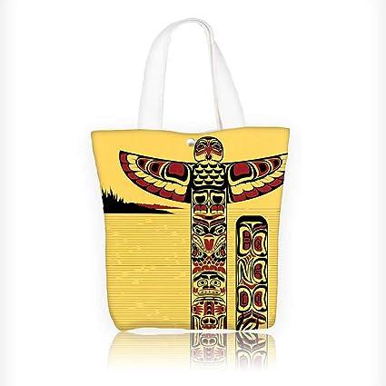 Amazon.com: Bolso de lona para mujer, diseño de flor de ...
