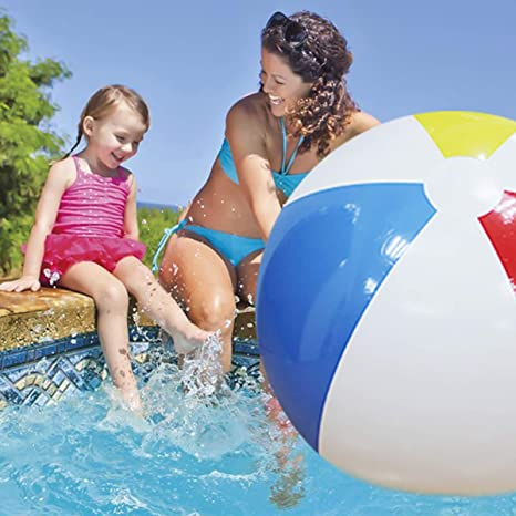 SUMME 100 cm Gigante Bola de Playa Inflable Grande Tres-Color ...