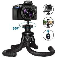ZATK Trépied Flexible, Trepied Portable avec Télécommande Bluetooth pour Smartphone, iPhone, GoPro, Canon, Nikon ect