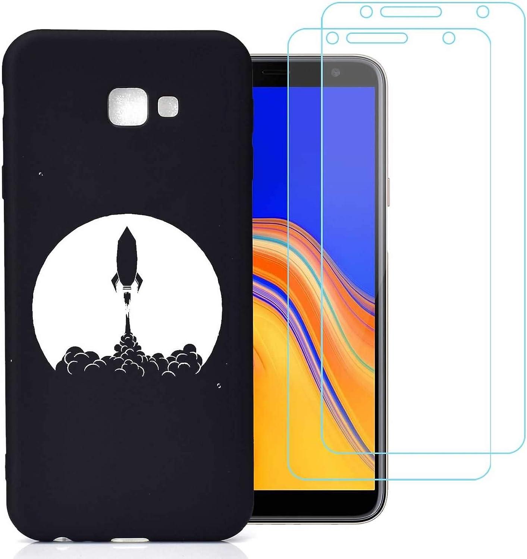 jrester Funda Samsung Galaxy J4 Plus,Despegue de la Nave Espacial Flexible Suave Silicona Smartphone Cascara Protectora para Samsung Galaxy J4 Plus (6,0