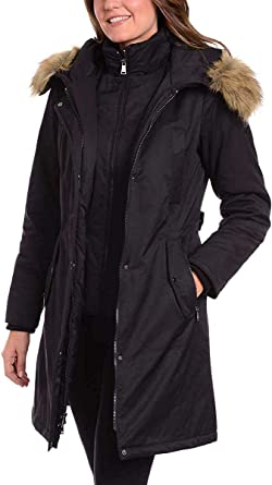 Ladies Parka Jacket With Fur Hood