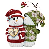 The Socking's by Pavilion Gift, Love, Snowmen with Mistletoe, 4-1/2-Inch