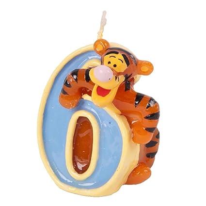 Amazon.com: Disney Tigger Niños Vela para tarta de ...