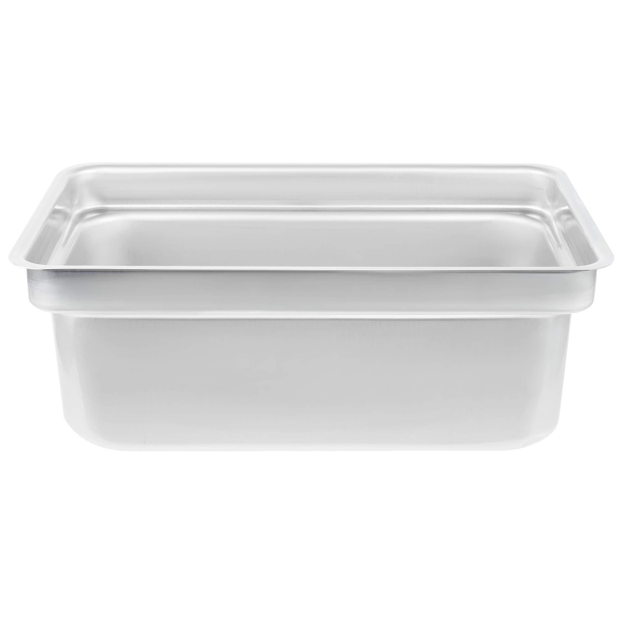 TableTop King S2028D Super Pan Heavy-Duty Full Size Offset Shoulder Anti-Jam Stainless Steel Steam Table/Hotel Pan - 8'' Deep by TableTop King