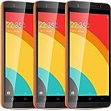 "Unlocked Dual Sim Cell Phones TSJYING 5.0"" Anroid 5.1 MTK6580 Quad Core ROM 4GB 5.0MP Camera GSM/3G Quadband Smartphones WIFI Bluetooth Orange"