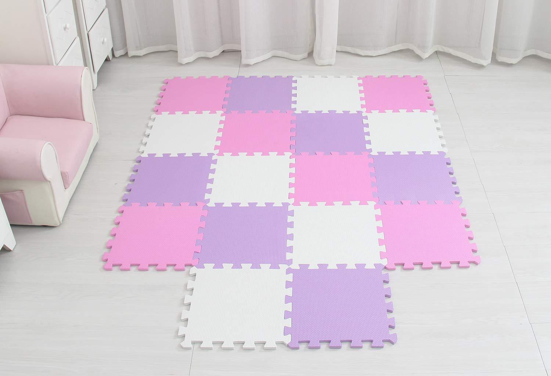 Meiqicool Interlocking Soft Kids Baby Eva Foam Activity Play Mat