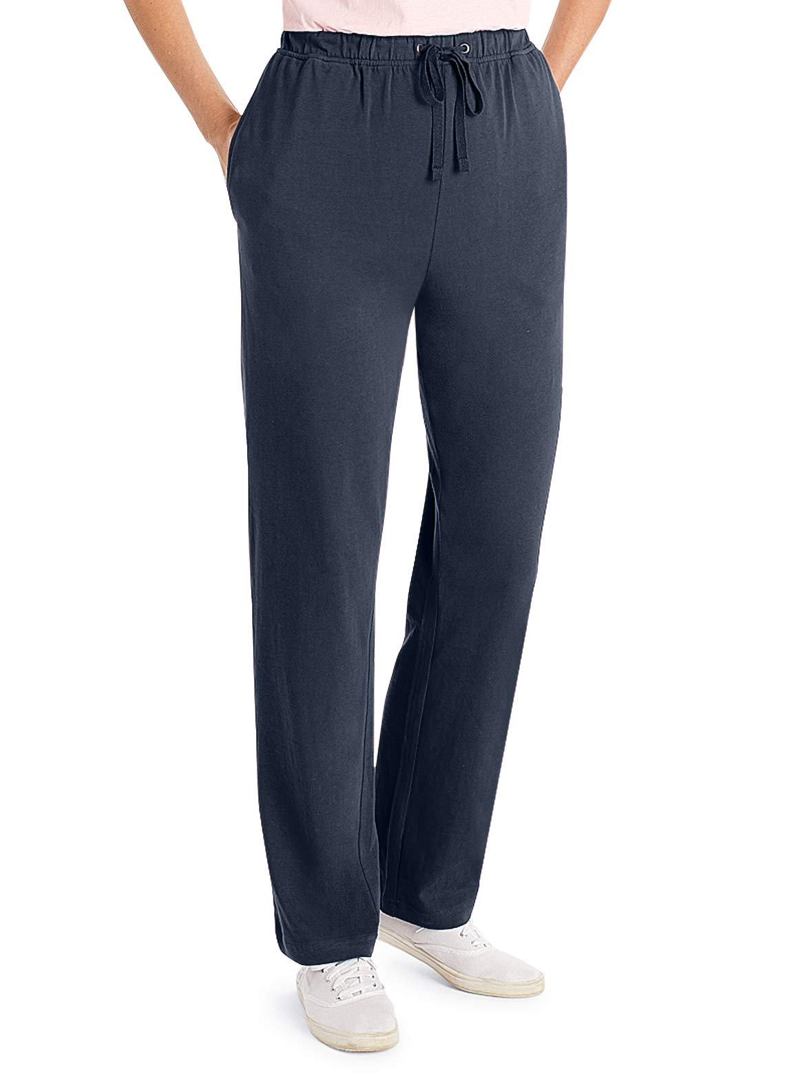 Carol Wright Gifts Jersey Knit Pants, Color Navy, Size Large, Navy, Size Large