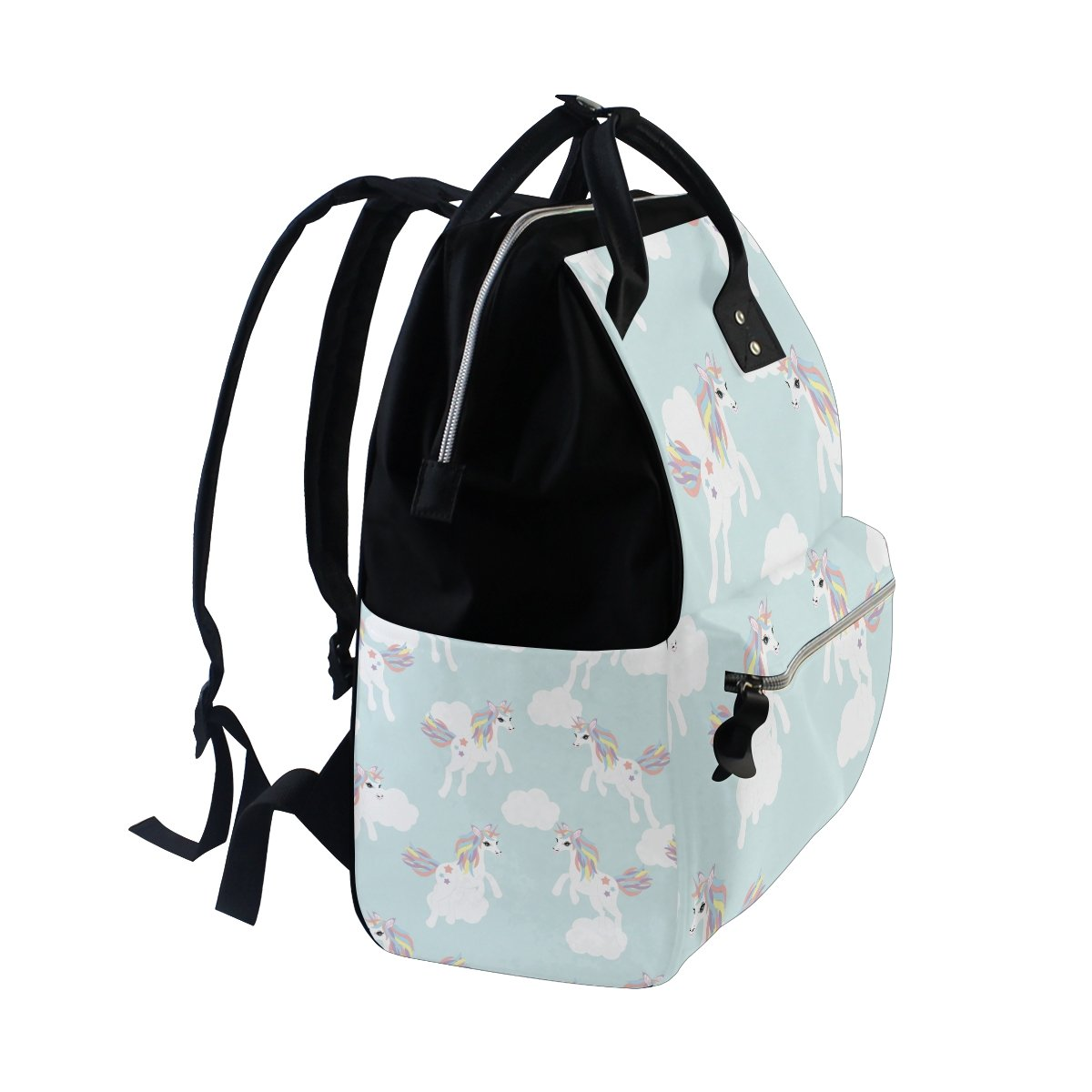 Diaper Bags Backpack Purse Mummy Backpack Fashion Mummy Maternity Nappy Bag Cool Cute Travel Backpack Laptop Backpack with Cute Colourful Unicorns Daypack for Women Girls Kids