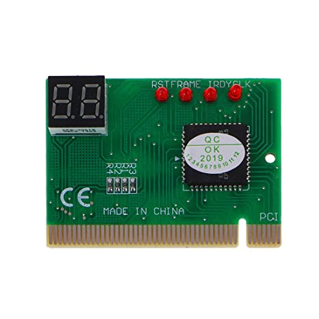 Cutebility - Tarjeta de diagnóstico PCI de 2 bits para Placa Base ...