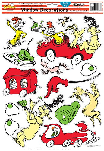 Eureka Dr. Seuss Green Eggs and Ham Window Clings (836078)