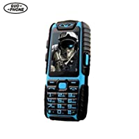 """GUOPHONE A6 Rugged Cell Phone Unlocked GSM Waterproof Shockproof Dual Sim 2.4"""" Flashlight Power Bank Long Standby Cell Phone"""