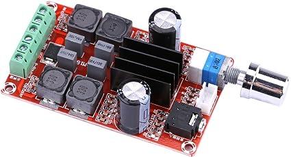 Audio Amplificador Tablero ,Yeeco 50W + 50W Doble Canal Amplificador AMP Módulo,DC 9