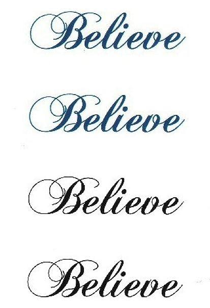 Etiqueta engomada del tatuaje temporal a prueba de agua palabras ...