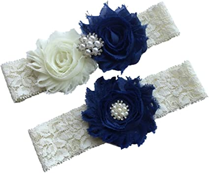 something blue Lace Garter Garter Wedding Navy Garter WG27 Wedding Garter set Wedding Garter Set Plus Size Garter Bridal Garter Set